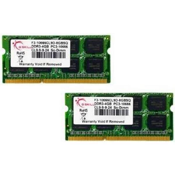 G.Skill Standard DDR3 1333MHz 2x4GB (F3-10666CL9D-8GBSQ)