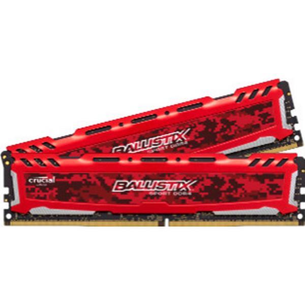 Crucial Ballistix Sport LT Red DDR4 2400MHz 2 x 4GB (BLS2C4G4D240FSE)
