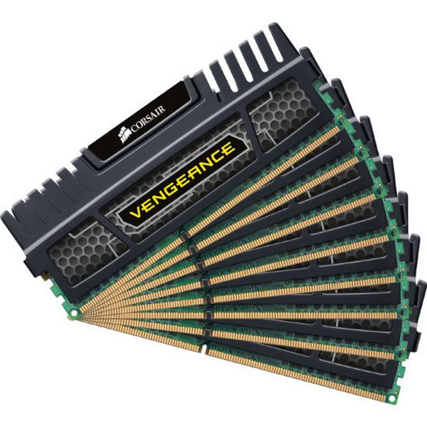Corsair Vengeance Black DDR3 1600MHz 8x8GB (CMZ64GX3M8A1600C9)