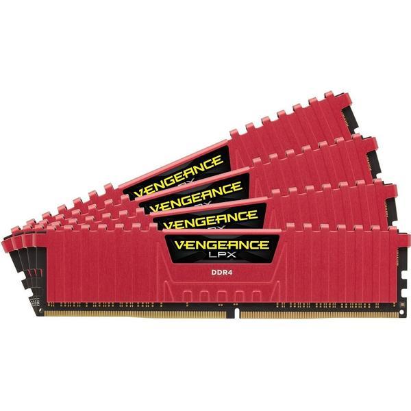 Corsair Vengeance LPX Red DDR4 2400Mhz 4x8GB (CMK32GX4M4A2400C14R)