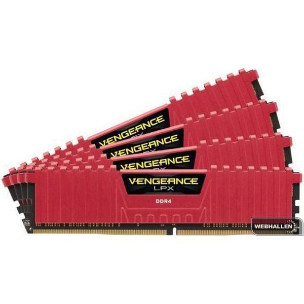 Corsair Vengeance LPX Red DDR4 2400MHz 4x4GB (CMK16GX4M4A2400C14R)