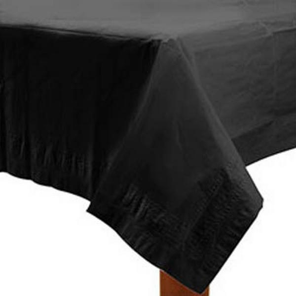 Amscan Paper Table Covers Black Disposable Dinnerware (57115-10)