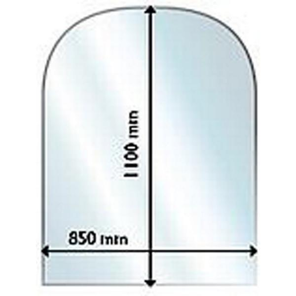 Aduro Glass Floor Hearth Half Circle 6mm 110X85cm