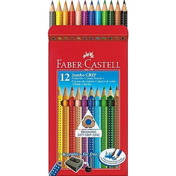 Faber-Castell Jumbo Grip Coloured Pencils 12-pack