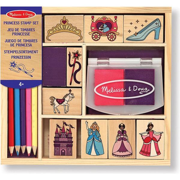Melissa & Doug Wooden Stamp Set Princesses