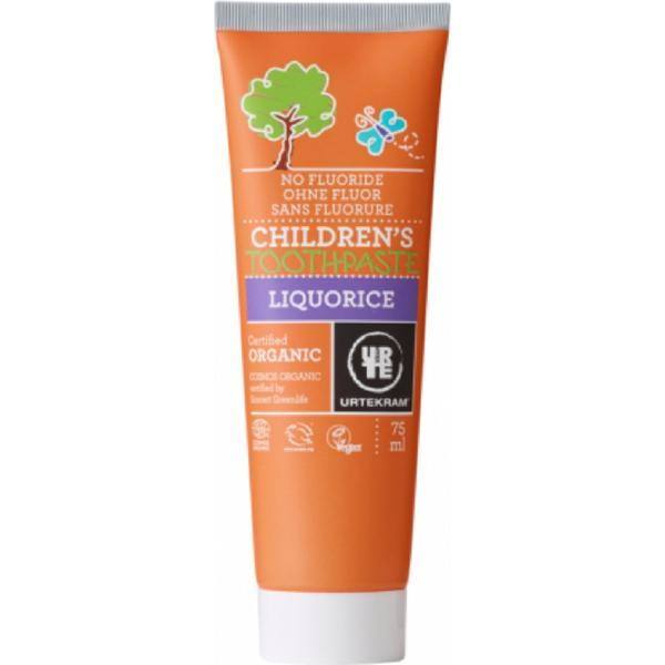 Urtekram Childrens Liquorice Organic Toothpaste 75ml