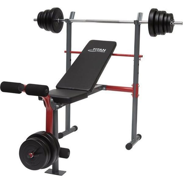 Titan Fitness Bench + 50kg