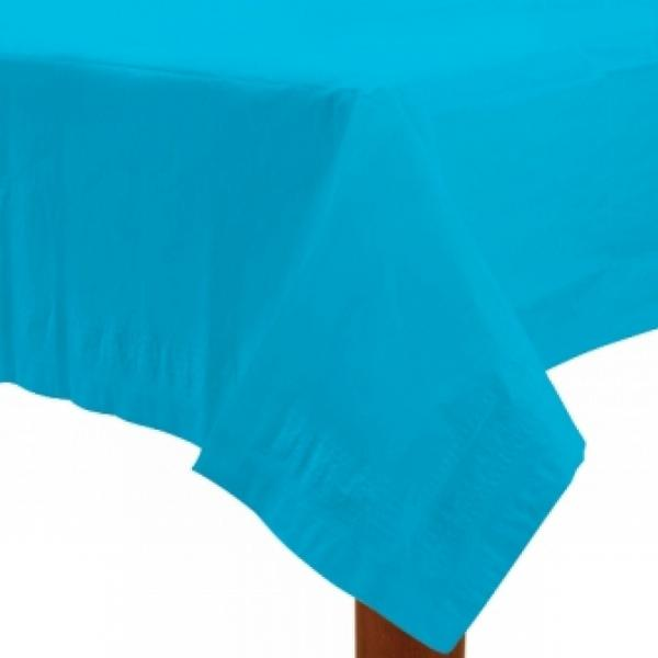 Amscan Paper Table Covers Caribbean Blue Disposable Dinnerware (57115-54)