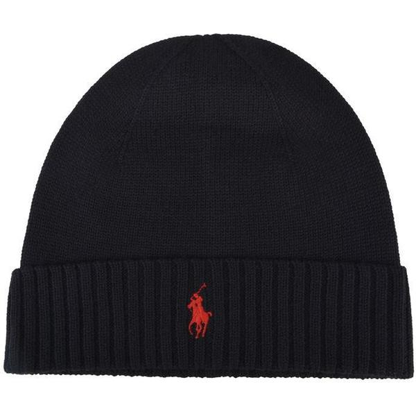 Polo Ralph Lauren Ribbed Beanie Polo - Black