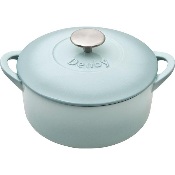 Denby Pavilion Cast Iron Round Casserole Other Pots with lid 20cm