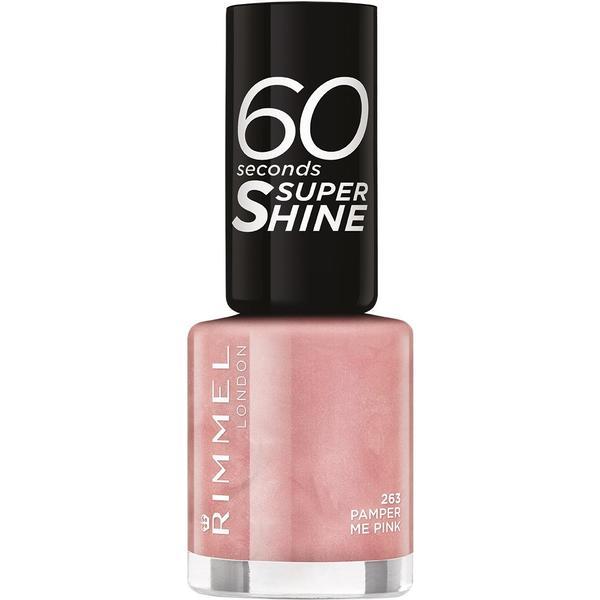 Rimmel 60 Seconds Super Shine Nail Polish Pamper Me Pink 8ml