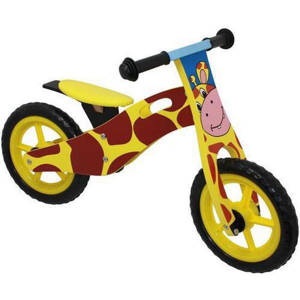 Megaleg Løbecykel Giraf i træ med Rigtige Lufthjul