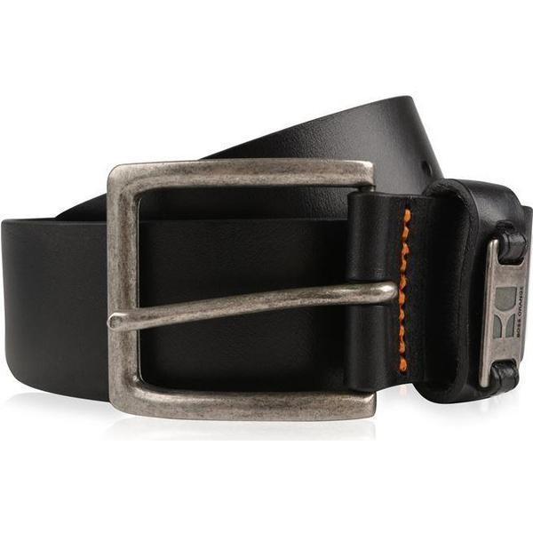 Hugo Boss Branded Metal Loop Leather Belt - Black
