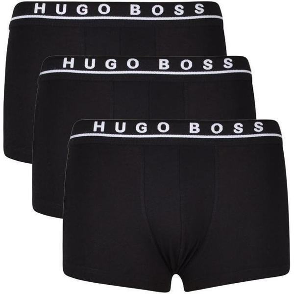 Hugo Boss Stretch Cotton Trunks 3-pack - Black