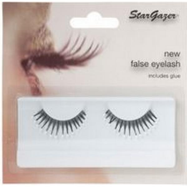 Stargazer Feathered False Eye Lashes #39 Black & White Beads