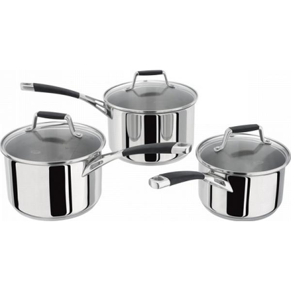 Stellar Induction Saucepan Set with lid 3 parts