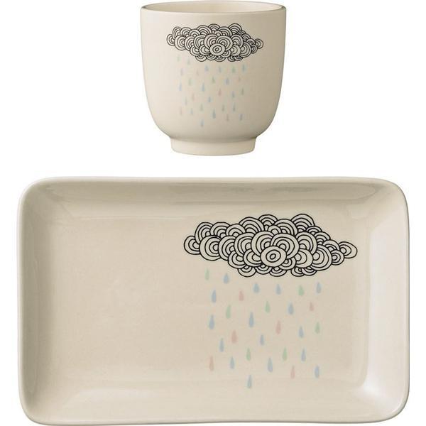 Bloomingville Rain Cloud Stoneware Plate & Cup