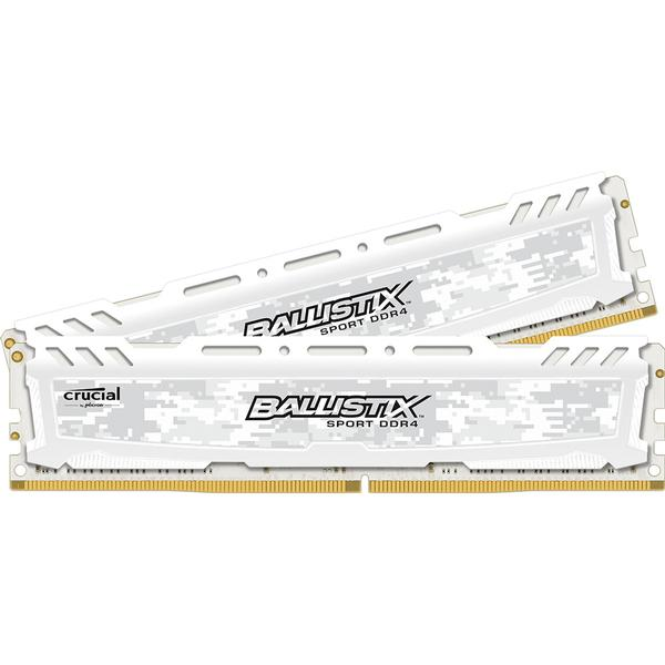 Crucial Ballistix Sport LT White DDR4 2666MHz 2x8GB (BLS2C8G4D26BFSCK)