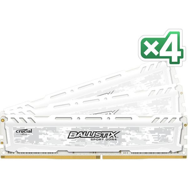 Crucial Ballistix Sport LT White DDR4 2666MHz 4x8GB (BLS4C8G4D26BFSCK)