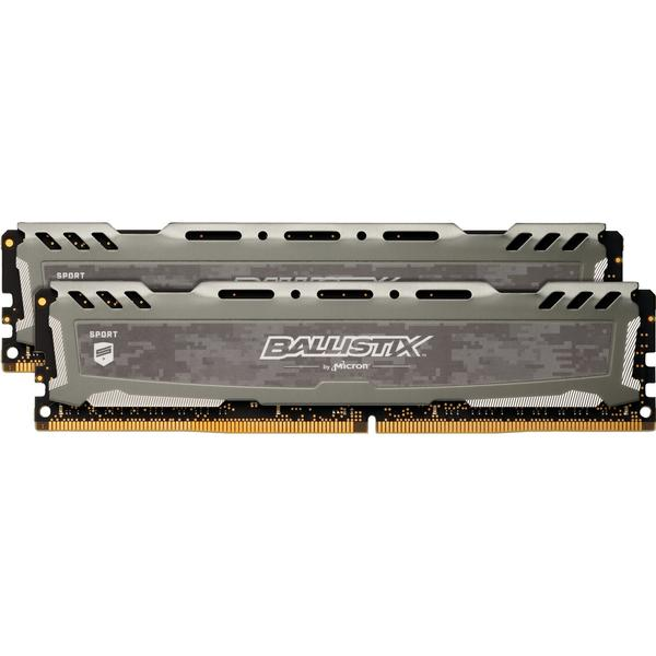 Crucial Ballistix Sport LT Gray DDR4 2666MHz 2x16GB (BLS2C16G4D26BFSB)