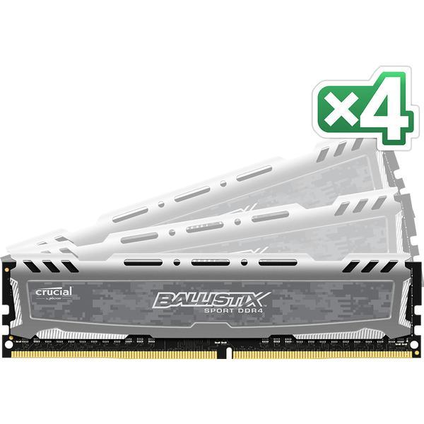 Crucial Ballistix Sport LT Gray DDR4 2666MHz 4x8GB (BLS4C8G4D26BFSB)