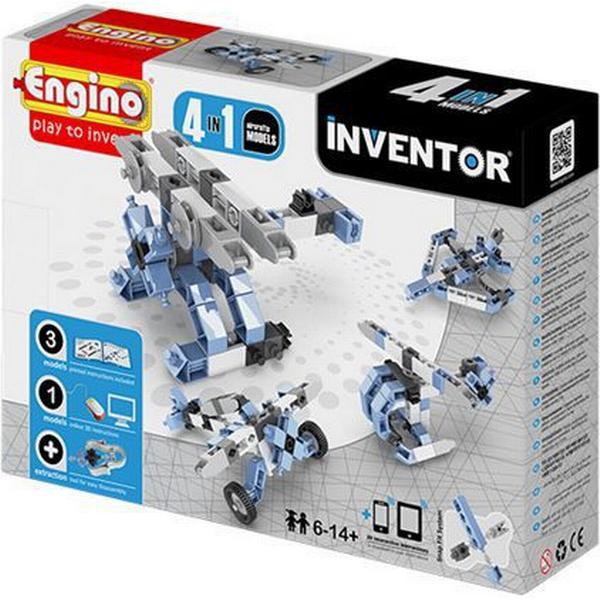 Engino 4-i-1 Byggesæt Inventor Luftfartøjer