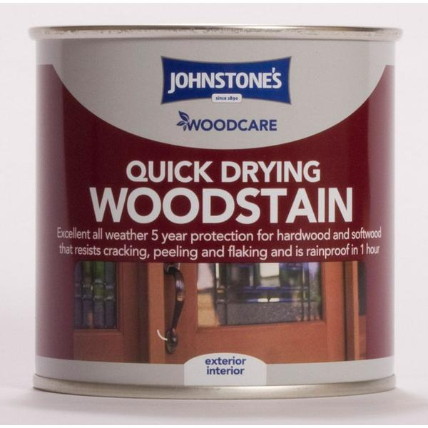 Johnstones Woodcare Quick Drying Woodstain Brown 0.25L