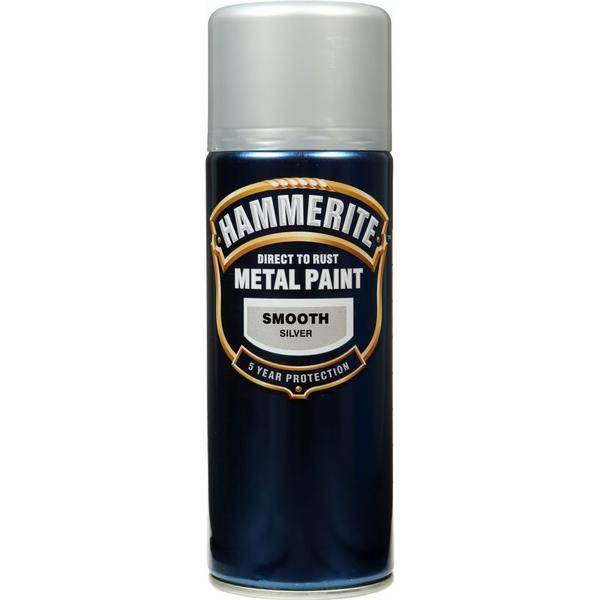 Hammerite Direct to Rust Smooth Effect Metal Paint Silver 0.4L