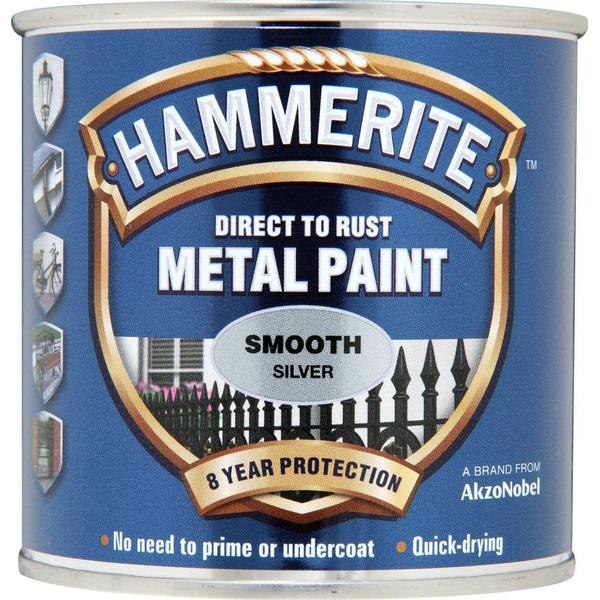 Hammerite Direct to Rust Smooth Effect Metal Paint Silver 0.25L