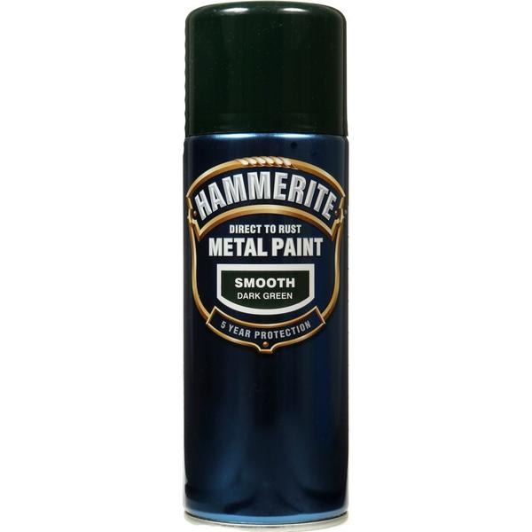 Hammerite Direct to Rust Smooth Effect Metal Paint Green 0.4L