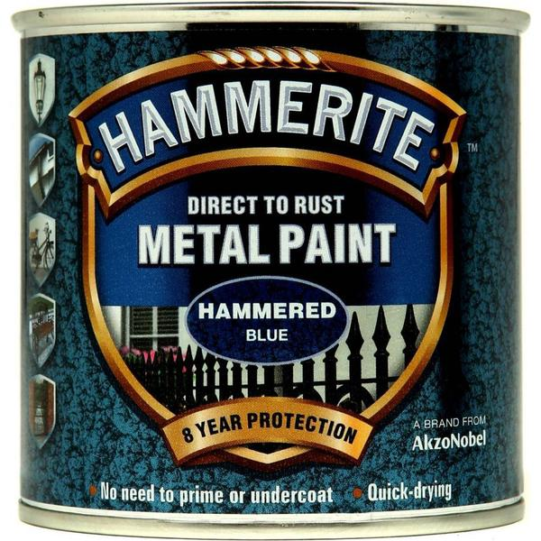 Hammerite Direct to Rust Hammered Effect Metal Paint Blue 0.25L