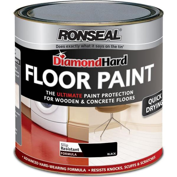 Ronseal Diamond Hard Floor Paint Black 0.75L