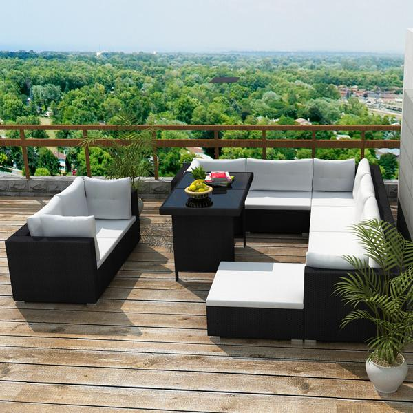 vidaXL 41878 Havesofa (modul/stk) Havemøbelsæt, 1 borde inkl. 3 sofaer