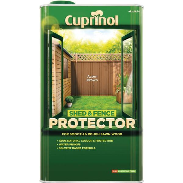 Cuprinol Shed & Fence Protector Wood Protection Brown 5L