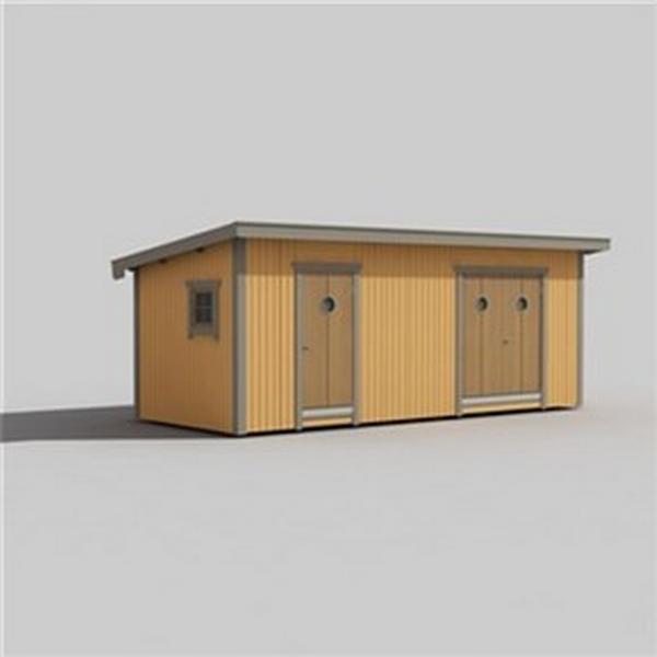 Trähuset Saga 15-3 (Byggnadsarea 15 m²)