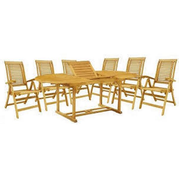 Hecht Camberet Havemøbelsæt, 1 borde inkl. 6 stole