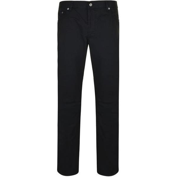 Stone Island Cotton Satin Slim Fit Jeans - Black V0029