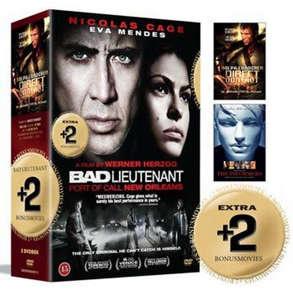 Bad Lieutenant + 2 Bonusfilmer: Box (3DVD) (DVD 2015)