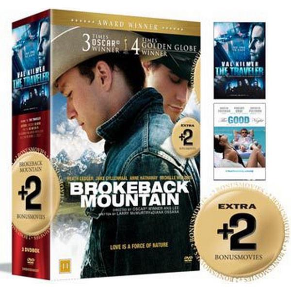Brokeback mountain + 2 Bonusfilmer: Box (3DVD) (DVD 2015)