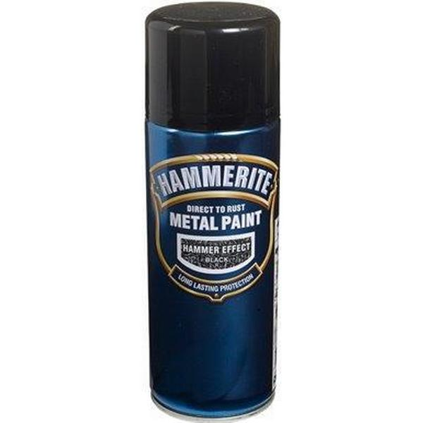 Hammerite Direct to Rust Hammered Effect Metal Paint Black 0.4L