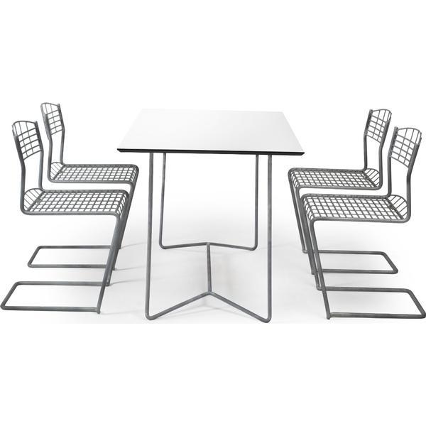 Grythyttan High-tech 110x70cm Havemøbelsæt, 1 borde inkl. 4 stole