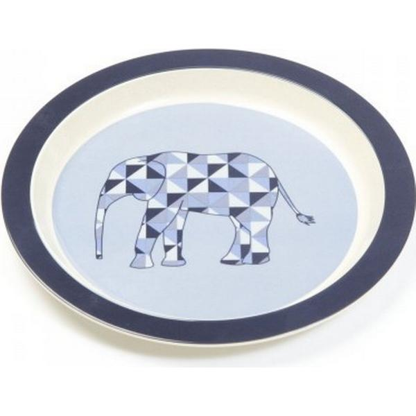 Smallstuff Melamin Flat Plate Denim Animal