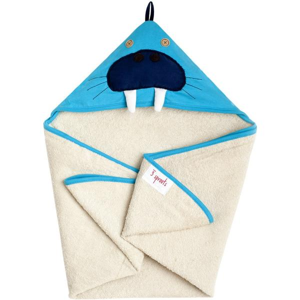 3 Sprouts Walrus Hooded Towel