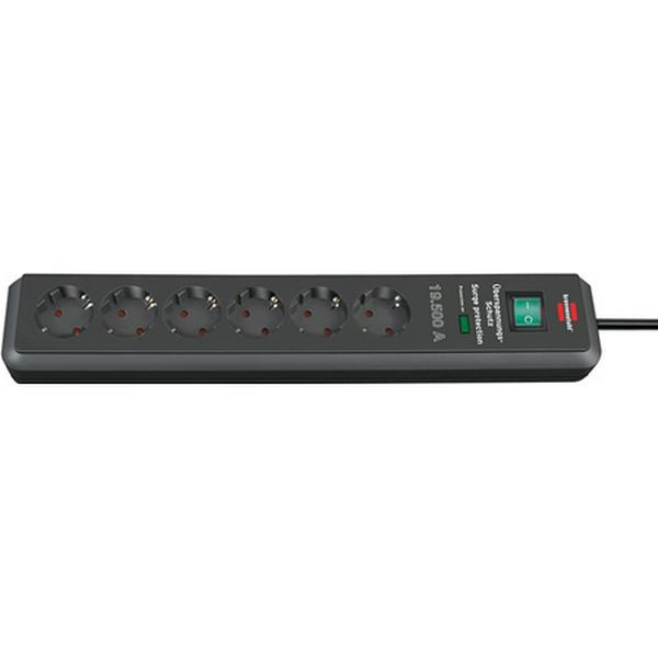 Brennenstuhl Secure-Tec 1159540366 6 way 2m