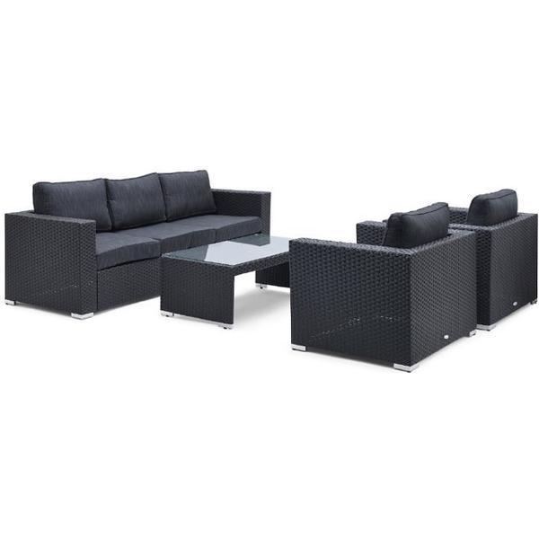 Hillerstorp Viper 110x60cm Havesofa (gruppe) Loungesæt, 1 borde inkl. 2 stole & 1 sofaer