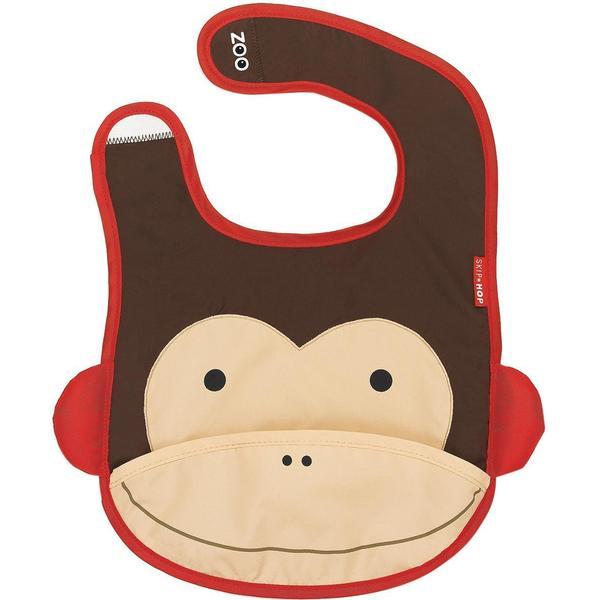 Skip Hop Zoo Tuck Away Baby Bib Marshall Monkey