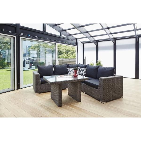 Hillerstorp Alicante Havesofa (modul/stk) Loungesæt, 1 borde inkl. 1 sofaer