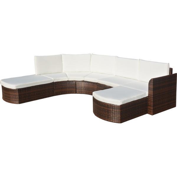 vidaXL 41886 Havesofa (gruppe) Loungesæt, borde inkl. 2 sofaer