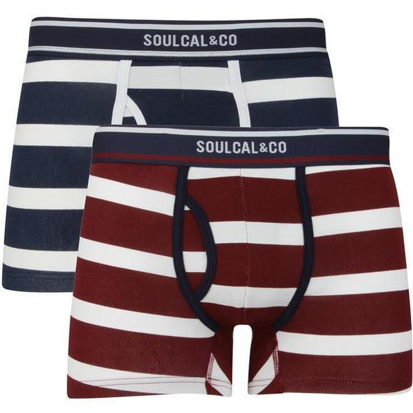 SoulCal Block Stripe Trunks 2-pack Navy/White/Burg