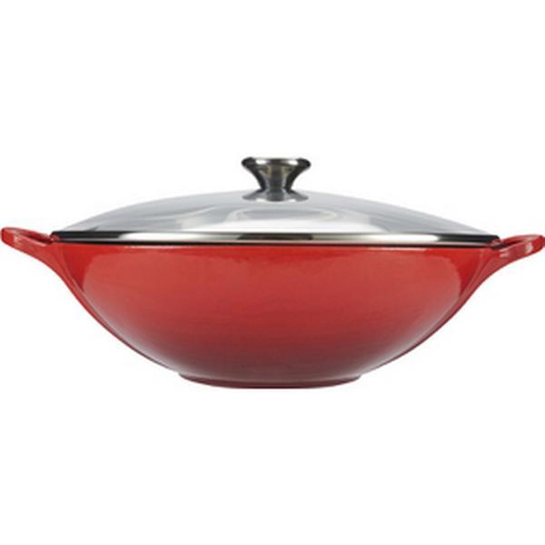Le Creuset Cast Iron Wok with lid 32cm